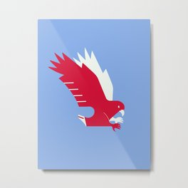 White-tailed eagle - Poland national symbol, flag colors Metal Print