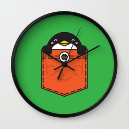 Pocket Penguin Wall Clock