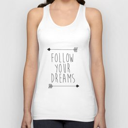 Follow Your Dreams Wall Decal Quote- Boho Bedroom Decor Unisex Tank Top