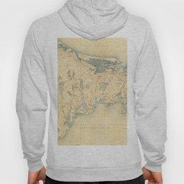 Vintage Map of Barnstable Massachusetts (1893) Hoody