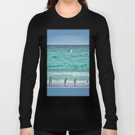 Falkland Island Seascape with Penguins Long Sleeve T-shirt