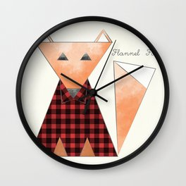 Flannel Fox Wall Clock