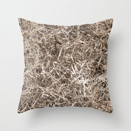 Grass Camo Throw Pillow