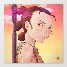Starwars - Rey Tribute Canvas Print