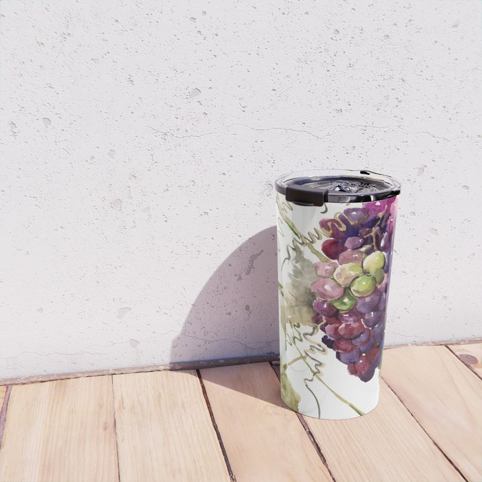 Grapes, California Vineyard Wine Lover design Travel Mug