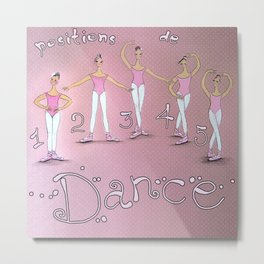 5 Positions of Dance. Ballet Metal Print