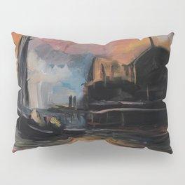Misty Dock at Sunset Pillow Sham