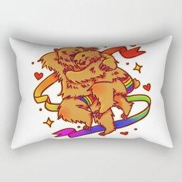 Fuzzy Love Rectangular Pillow