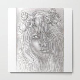 Goddess Flora Metal Print