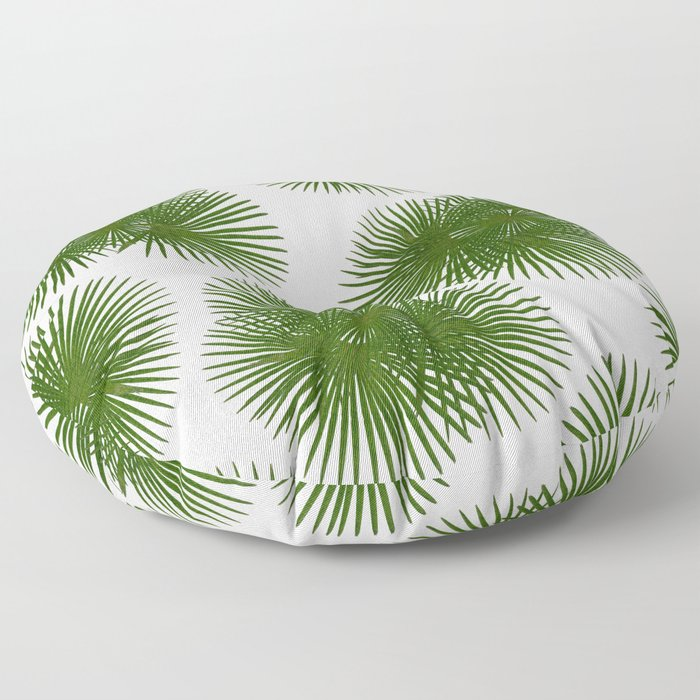 Fan Palm, Tropical Decor Floor Pillow