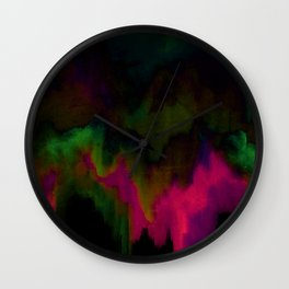 fuchsia drips Wall Clock