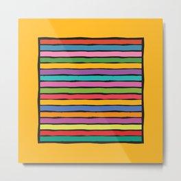 dp203-3B Colorful Stripes Metal Print