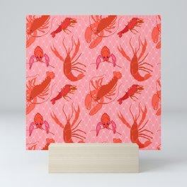 Catchin' Cajun Crawdads in Coral Mini Art Print