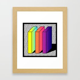 Memphis Style shaded Framed Art Print