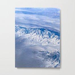 Mountains in snow Metal Print