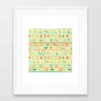tribal Framed Art Prints featuring Tribal by Sunshine Inspired Designs