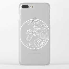 Simple Summer Tee For Surfers With A Logo Of A Wavy Ocean T-shirt Design Surf Ocean Waves Sea Clear iPhone Case