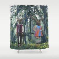 elk Shower Curtains featuring Elk by Mary Lo