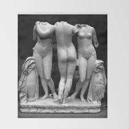 the three graces Throw Blanket