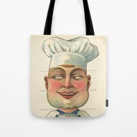chef Tote Bags featuring French Chef by Connie Goldman