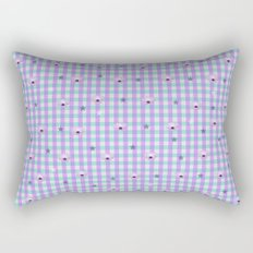 Gingham flowers Rectangular Pillow