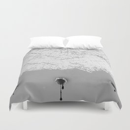 Draining Alaska Duvet Cover