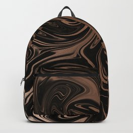 Black & Rose Gold Marble Backpack