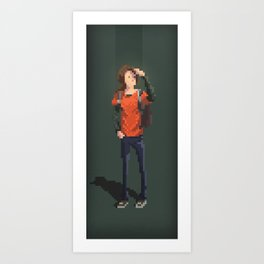 Ellie The last of us Pixel Art Art Print