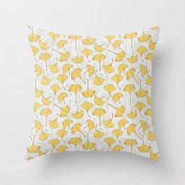 Ginkgo Pattern Throw Pillow