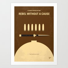 No318 My Rebel without a cause minimal movie poster Art Print