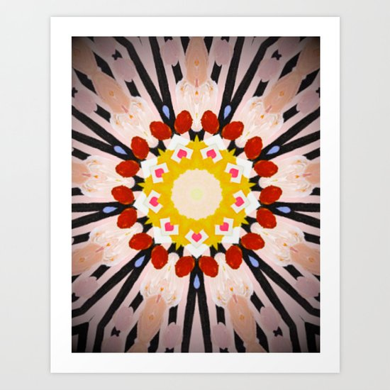 Watermelon Sunflower Art Print