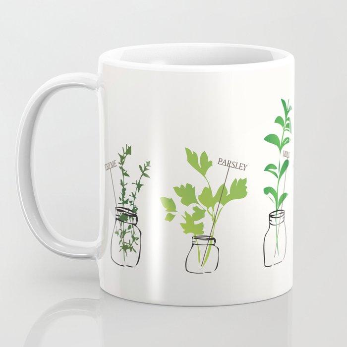 Mason Jar Herbs Coffee Mug