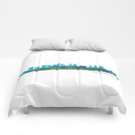 Philadelphia City Skyline Hq V1a Comforters