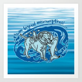 Lexy & Bruce - Swim beyond misconceptions! Art Print