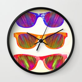 Sunglasses In Paradise Wall Clock