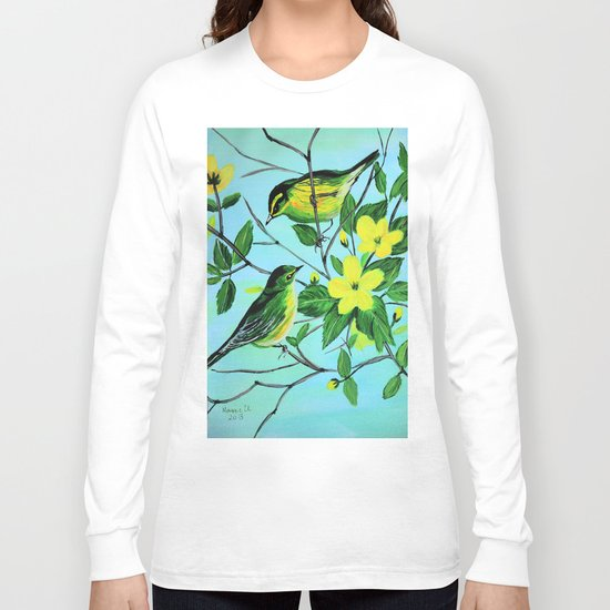 Thinking of spring  Long Sleeve T-shirt