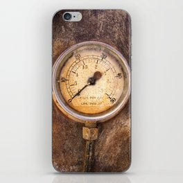 pressure - vintage industrial meter iPhone Skin