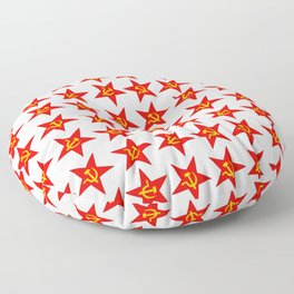 USSR red star pattern Floor Pillow