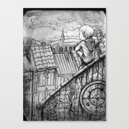 Up on the rooftops Canvas Print