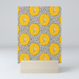 Melon summer print Mini Art Print
