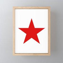 A Red Star Framed Mini Art Print