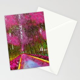 CHERRY BLOSSOM PATHWAY Stationery Cards