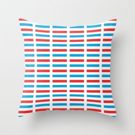 flag of luxembourg- Luxembourgish,Lëtzebuerg,Luxemburg,Luxembourger, luxembourgeois Throw Pillow