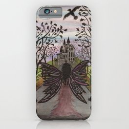 Fairy ready to visit her friend at the castle iPhone Case