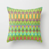 ikat Throw Pillows featuring Ikat  by Amber Nuttall