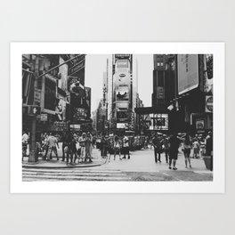 times square, ny Art Print