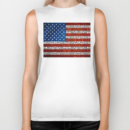 American Flag - USA Stone Rock'd Art United States Of America Biker Tank