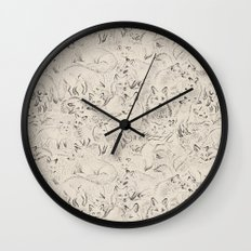 Resting foxes Wall Clock