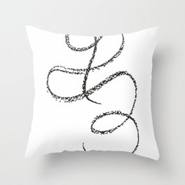 One line drawing - abstract art. Throw Pillow