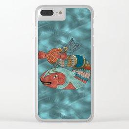 Fish Folk Clear iPhone Case